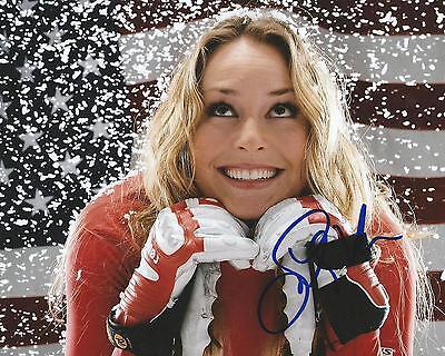 Gfa Olympic Alpine Skier  Lindsey Vonn  Signed 8X10 Photo V3 Coa