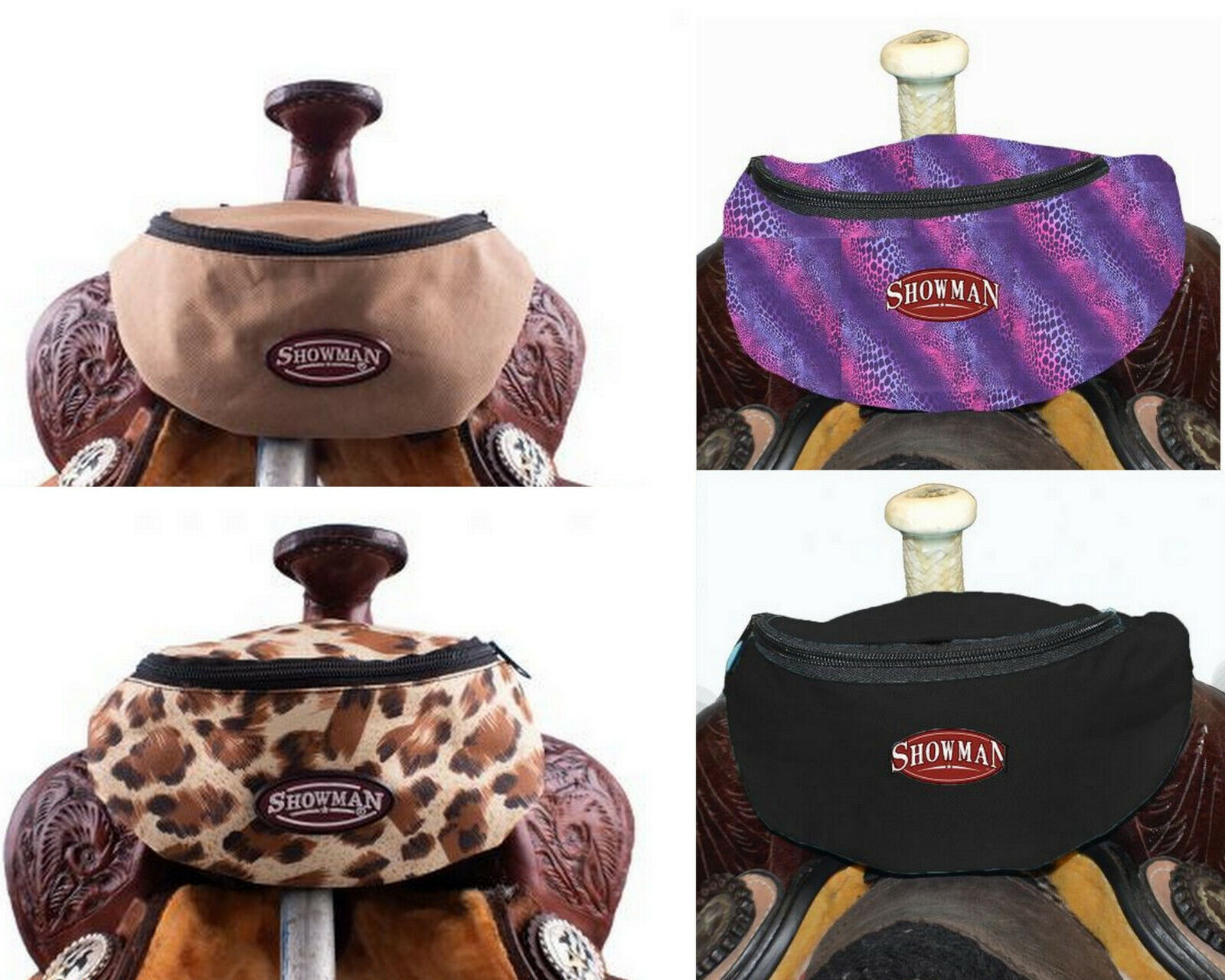 Western Horse Saddle Sack Lined Pouch / Bag Attaches to your