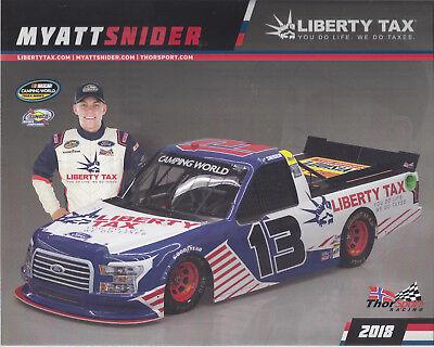 2018 Myatt Snider  Liberty Tax   13 Nascar Truck Series Postcard