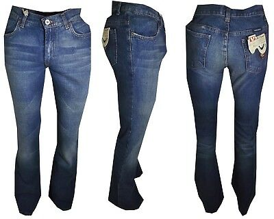 Jeans a Zampa Elefante da donna w24 w26 w27 campana Bootcut svasati denim 38 40