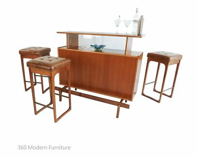 Mid Century Sideboard Teak Home Bar Vintage Retro Shop Counter