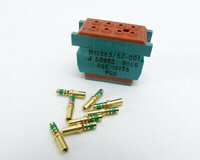 Lot Of 7 Amphenol Pcd M1288352-001 Relay Socket Connectors W Socket Contacts