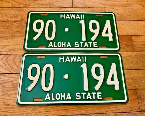 1961 Hawaii Truck License Plate Pair