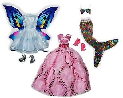 Transformer Dress Up (Fairytale Doll Dress Up Set Lot Transforming 3 in 1 Fairy to Mermaid to)
