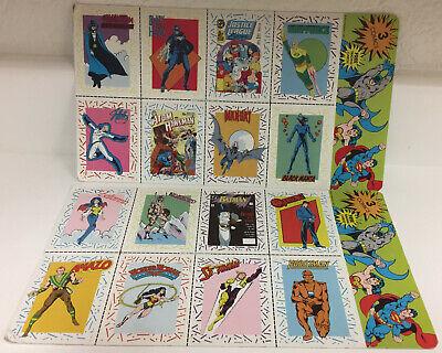 1989 Lot of 2, DC Comics Trading Card Uncut Sheet 🔥 📈 Heroes Villians RARE
