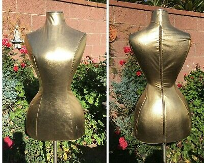 Gold Mannequin Dress Form Custom Fit Curvy Diva Display Prop Fashion Nordstroms