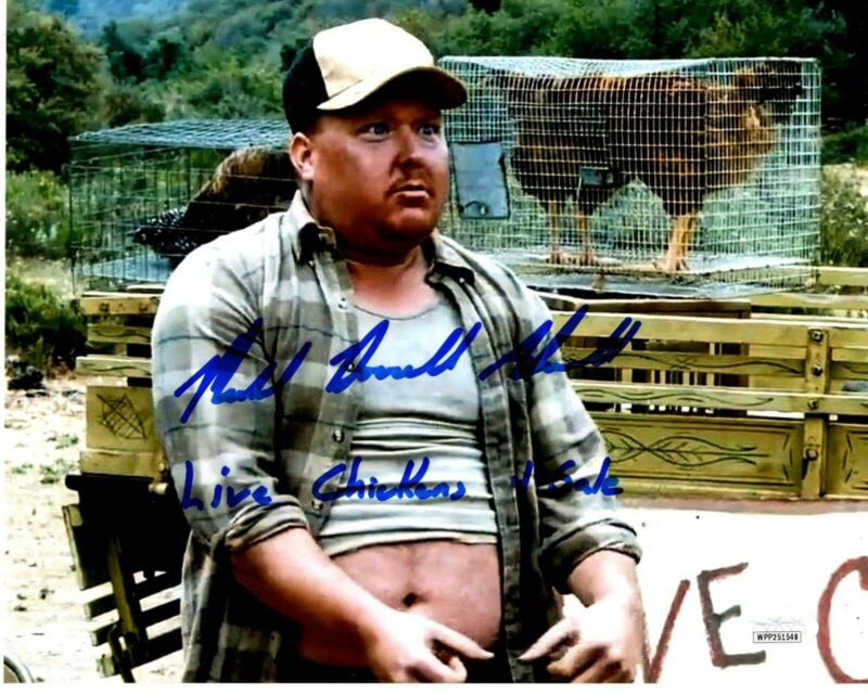 MICHAEL Red Bone ALCOTT signed 8x10 Photo The Devils Rejects Chicken JSA Witness