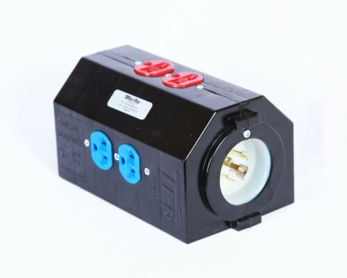 NEW 20A Three Phase Electrical Doghouse / Floor Box Distro - UL and cUL Listed