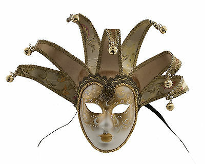 Mask from Venice Volto Jolly Golden 7 Spikes for Prom Costume 764 V79