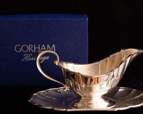 Gorham Heritage Silver Tone Gravy Boat With Original Box