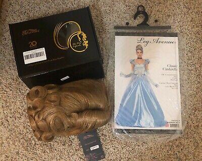 Halloween Dress Princess Cinderella Costume for Adult + NIB Wig Medium 8