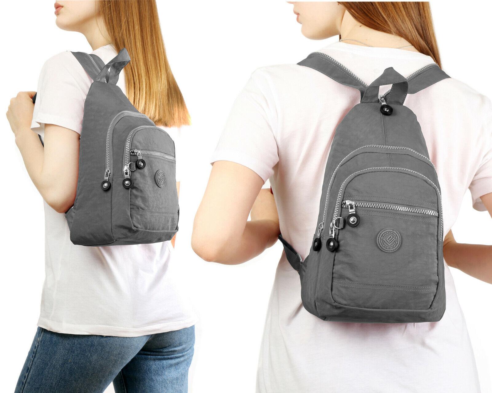 Leichter Mini Rucksack für Mädchen Und Damen sportlicher Daypack Freizeit Grau