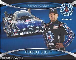 2014 Robert Hight Aaa Auto Club Funny Car Nhra Handout