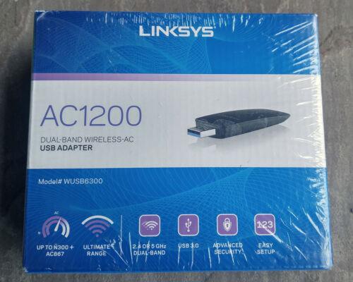 Linksys WUSB6300 Dual-Band AC1200 Wireless USB 3.0 Adapter [Sealed]
