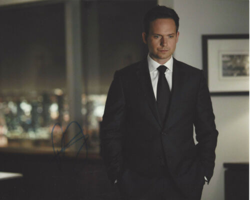 PATRICK J. ADAMS SIGNED AUTHENTIC SUITS 'MIKE' 8x10 PHOTO D w/COA PROOF TV ACTOR