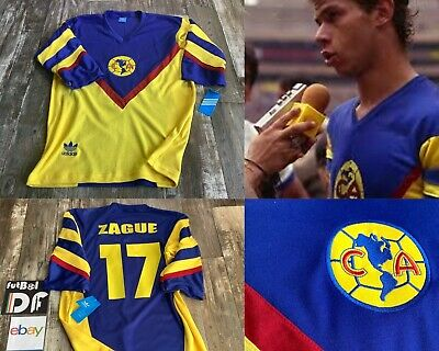 Club America Mexico Futbol Soccer New W/Tags Large Jersey Retro ZAGUE Football