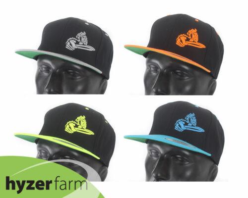 DISCRAFT CRANK TWO-TONE FLAT BILL SNAP BACK HAT *pick color* Hyzer Farm disc cap