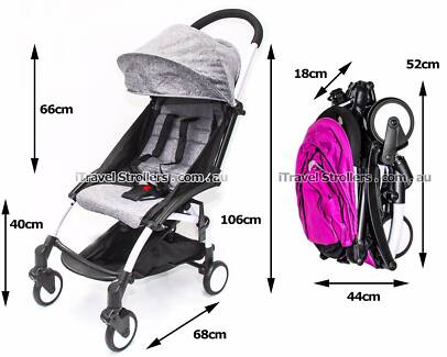 iTravel Lightweight Travel Stroller / Pram - Weighs only 5.8 kg