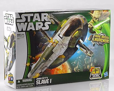 Jango Fetts Slave I Class Ii Vehicle Star Wars Movie Heroes Yoda Packaging Mib