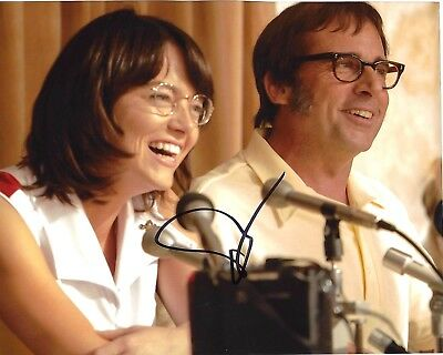 Actress Emma Stone Signed Battle Of The Sexes 8X10 Photo W Coa Billie Jean King