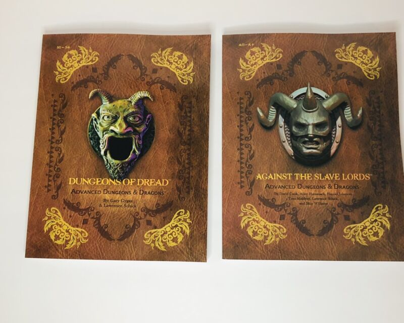 DnD Against The Slave Lords (A0-4) & Dungeon Of Dread Modules (S1-4) * Reprints*