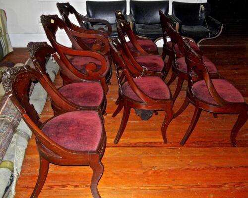 Antique  Empire  Mahoghany  chairs  Seignouret  Gondola  1880