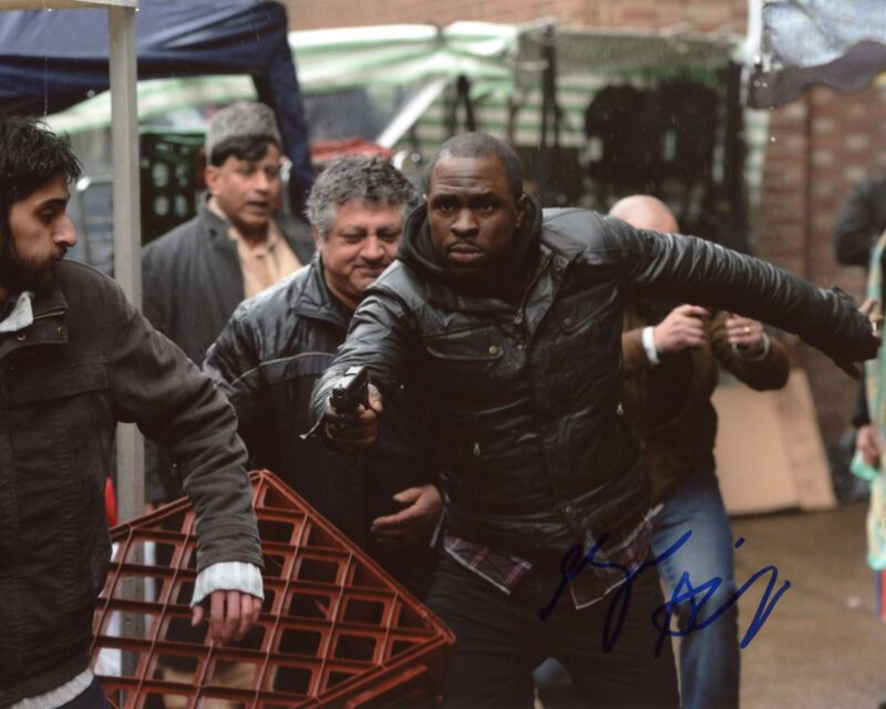 """Gbenga Akinnagbe """"24: Live Another Day"""" AUTOGRAPH Signed 8x10 Photo ACOA"""