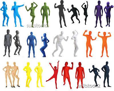 Adult Kids Tight Full Body Lycra Spandex Skin Unisex Catsuit Zentai Costumes