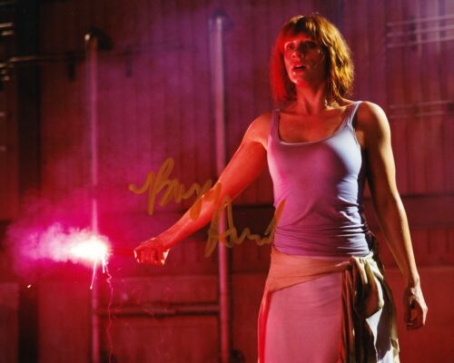 Bryce Dallas Howard SIGNED 10X8 Photo Jurassic World AFTAL COA (5544)