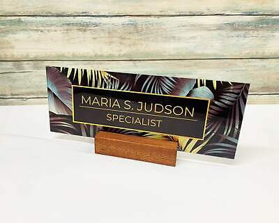 Personalized Desk Nameplate For Modern Office Christmas Birthday Wedding