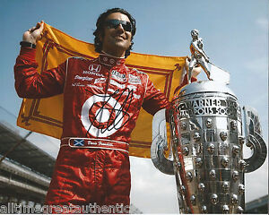 INDY-DRIVER-DARIO-FRANCHITTI-SIGNED-8X10-PHOTO-INDIANAPOLIS-500-CHAMPION-G-w-COA