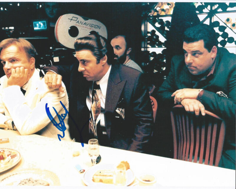 ACTOR STEVE SCHIRRIPA SIGNED THE SOPRANOS 8X10 PHOTO W/COA BOBBY BACALA A