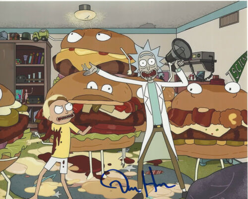 DAN HARMON - RICK AND MORTY CREATOR - SIGNED AUTHENTIC 8X10 PHOTO H w/COA PROOF