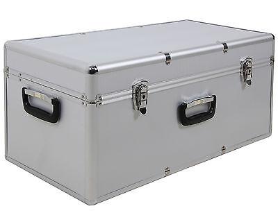 Aufbewahrungskoffer Transportkoffer Lagerbox Alubox M Alukoffer - Optik silber