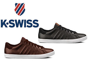 new mens k swiss belmont low top leather tennis casual