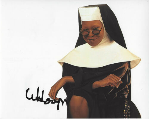 WHOOPI GOLDBERG HAND SIGNED AUTHENTIC 'EDDIE' 8X10 PHOTO w/COA SISTER ACT
