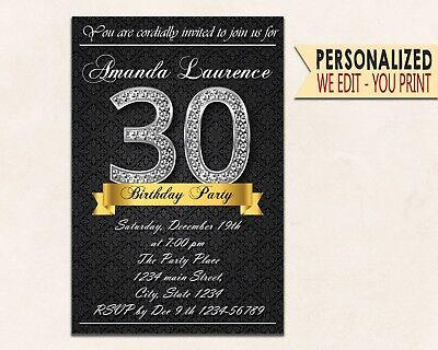 Diamond invitations 30th 40th 50th Invitations Party Invites Birthday Invites (50th Birthday Invitations)