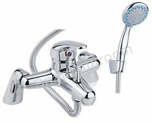 Luxury Bathroom Chrome Sink Bath Filler Tap Shower Mixer Taps with Hand Held