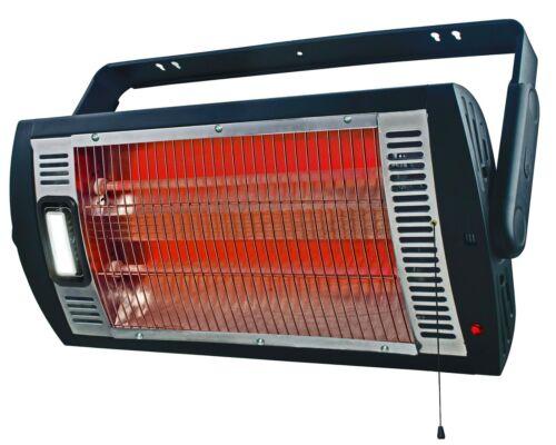 Electric Portable Heater Ceiling Mount 1,500-Watt Infrared Garage Workshop Job