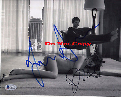 Dakota Johnson Jamie Dornan Fifty Shades Of Grey Signed 8X10 Autographed Rp