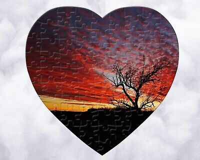 Design Your Own Custom Personalized Photo JigSaw Puzzle 75 Pieces Heart Shaped Heart Shaped Puzzle