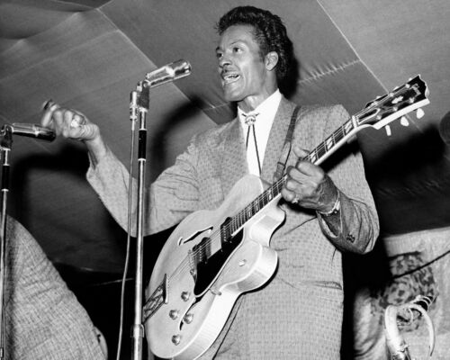 1965 Blues Singer CHUCK BERRY Glossy 8x10 Photo Music Guitarist Print Poster