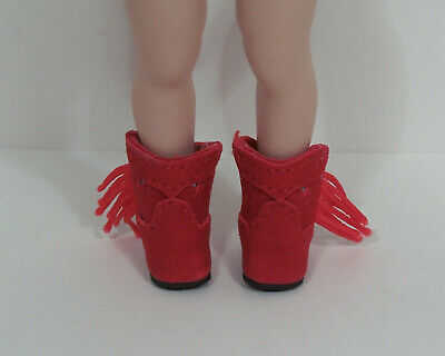 Cowboy Boots For Boys (RED Faux Suede Cowboy Boots Doll Shoes For Helen Kish Riley & DJ Boy)