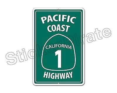 Aluminum  Pacific Coast Highway California 1 8  X 12  Funny Metal Sign Ns