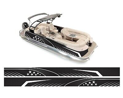 WRAPPING PONTOON REPLACEMENT WRAP GRAPHICS KIT DECAL STICKERS VINYL DIY BOATS