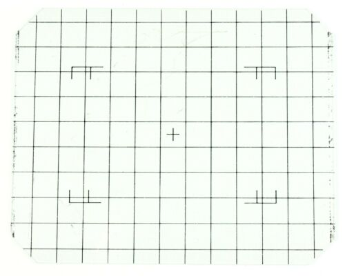 Toyo View Gridded Ground Glass Black Grid + Roll Film Markings
