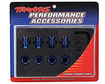 Traxxas 6856X 17mm Splined Blue Aluminum Wheel Hub Adapters Slash 4X4