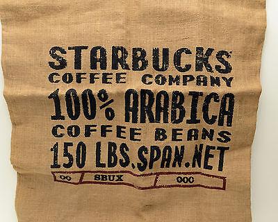 Starbucks Coffee Burlap Beans Bag Arabica Rare