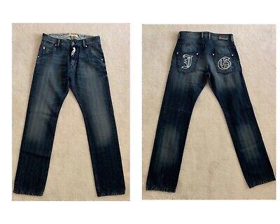 JOHN GALLIANO Juniors Big Boys Kids Slim Straight Blue Cotton Jeans Pants Sz 14