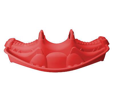 Ondis24 Wippe Krokodil Schaukelwippe Kinderwippe für bis zu 3 Kinder rot